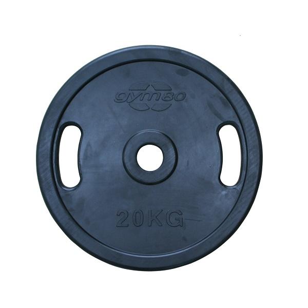 Диск обрезиненный 20 кг Gym80 Rubber Disc 50 mm 20kg