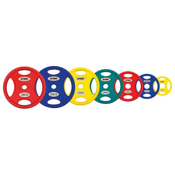 Профессиональные диски для штанг Stein TPU Color 3-Hole Plate