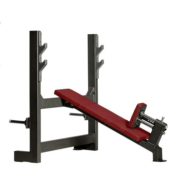 Скамья со стойками для жима под углом вверх Gym80 CORE Incline Bench wide