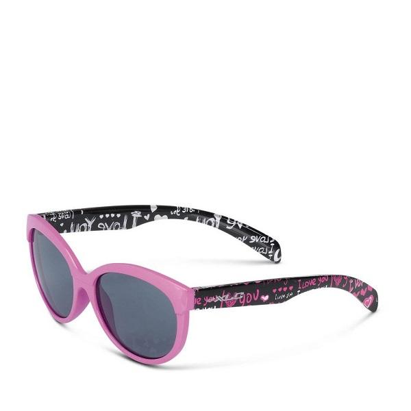 Солнцезащитные детские очки Maui SG-K05, чёрно-бело-розовая оправа
