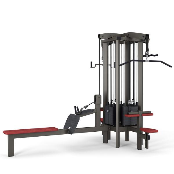 Тренажер - 4-х позиционная мультистанция Gym80 CORE 4 Station Tower