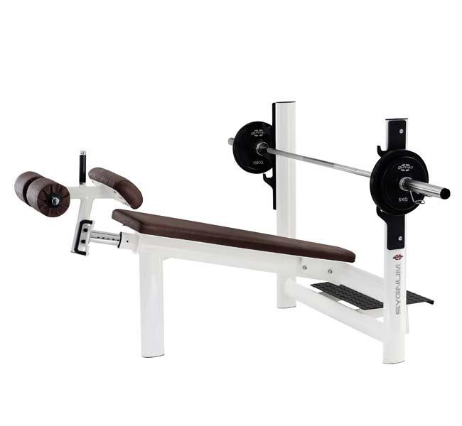 Тренажер - Скамья для жима под углом вниз, с регулируемым упором GYM80 SYGNUM Decline Bench wide down