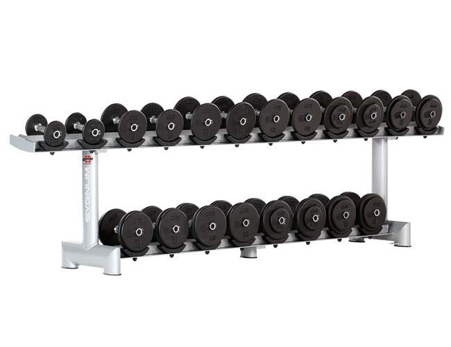 Тренажер - Стойка для гантелей, ложе - металл GYM80 SYGNUM Dumbbell Rack without rubber Holders