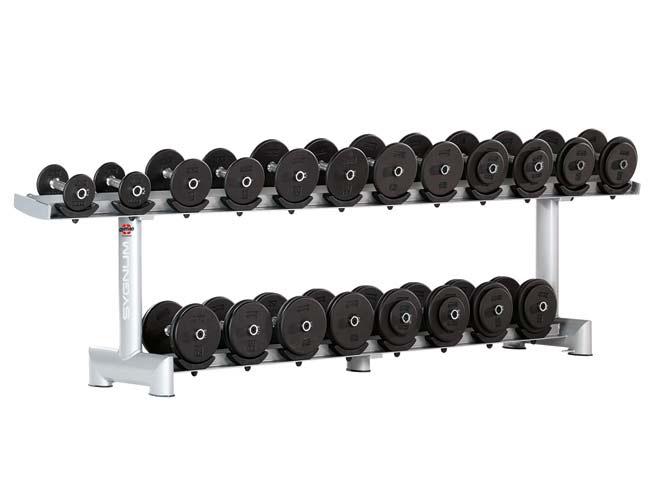Тренажер - Стойка для гантелей, ложе - резина GYM80 SYGNUM Dumbbell Rack with rubber Holders