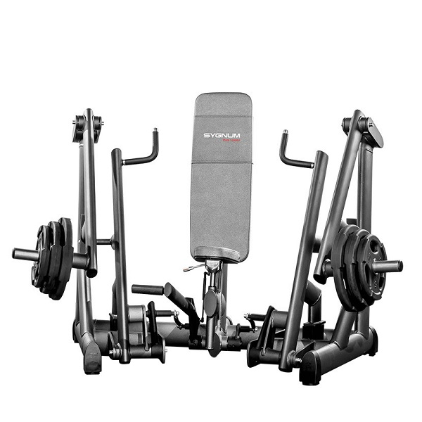 Тренажер - Жим от груди сидя GYM80 SYGNUM Plate loaded Seated Chest Press Machine
